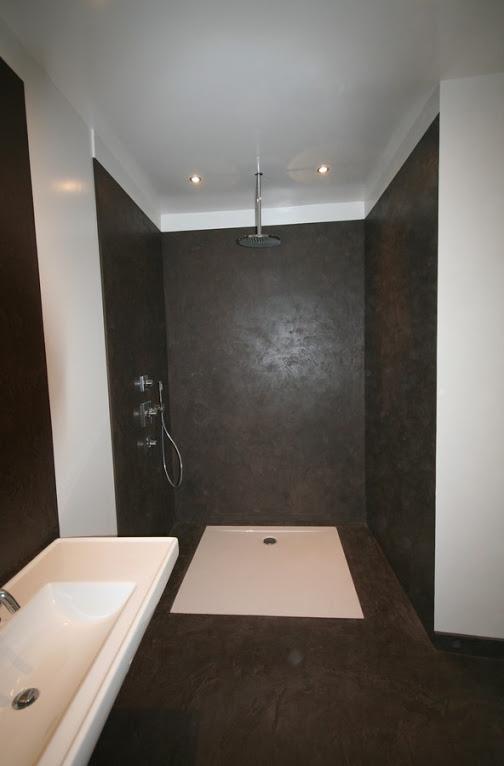 R novation int rieure de vos sols murs escaliers douche - Beton cire douche italienne ...